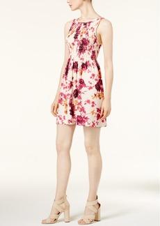 kensie Floral-Print A-Line Dress
