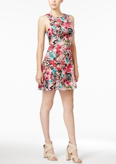 kensie Floral-Print Fit & Flare Dress