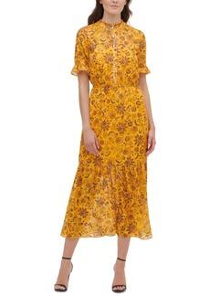 kensie Floral-Print Maxi Dress