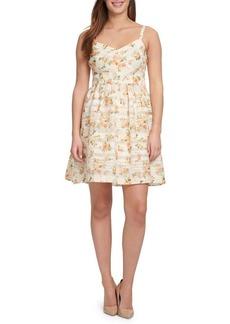 Kensie Floral Sweetheart Fit-&-Flare Dress