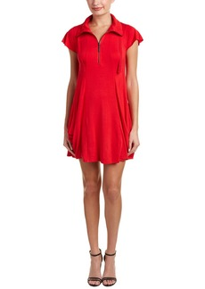 Kensie Funnel Neck Shift Dress