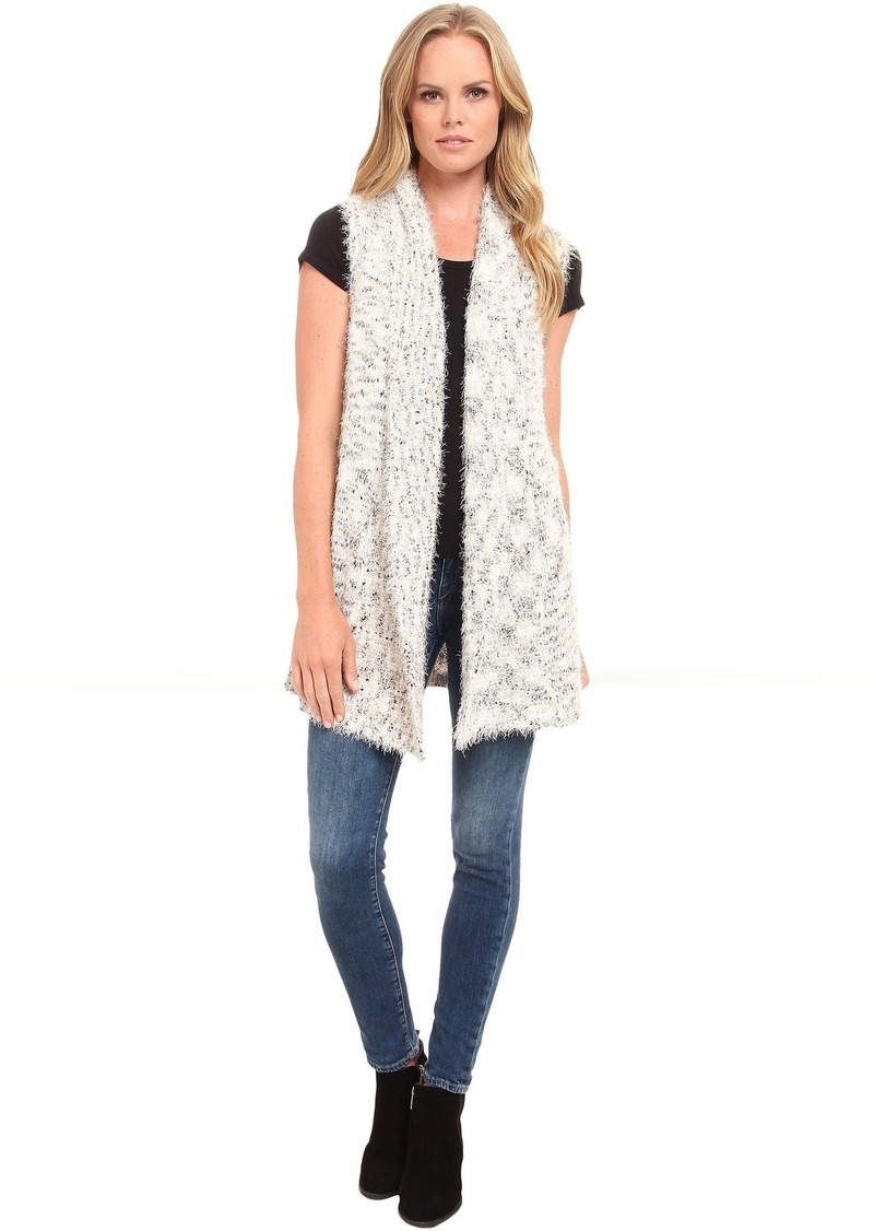 kensie Fur and Space Dye Vest KS9K5768