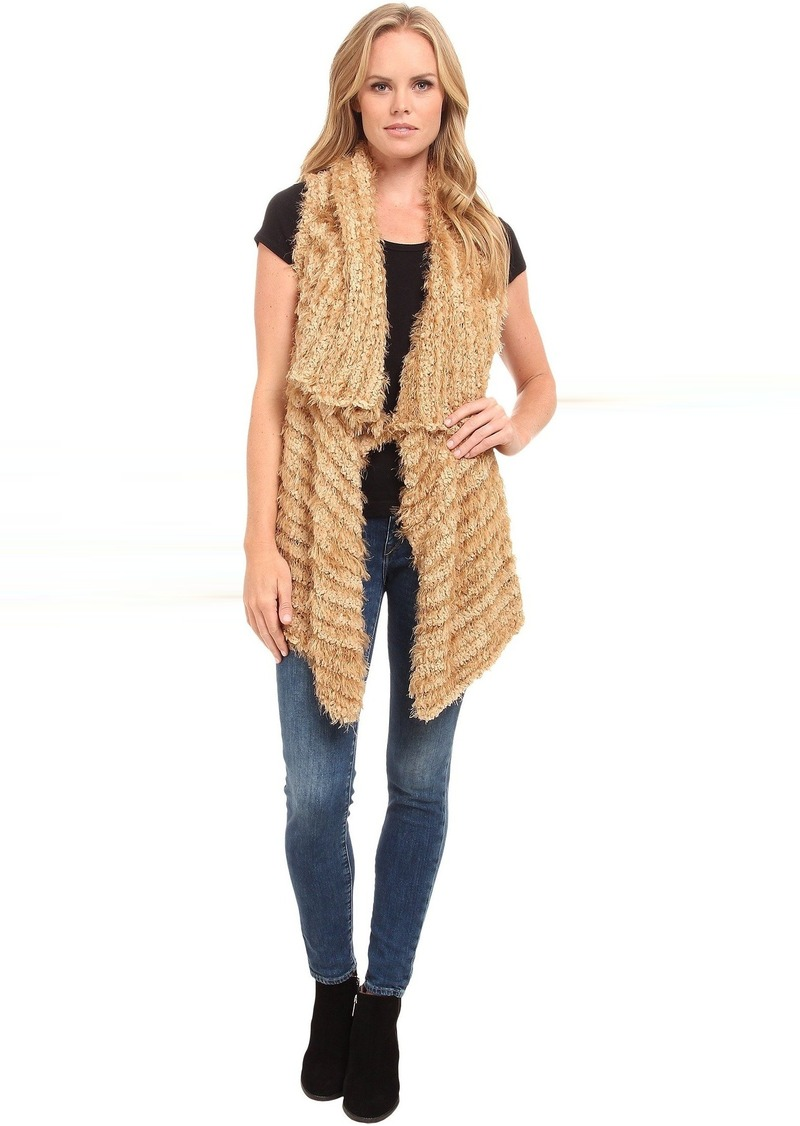 kensie Furry Stripe Vest KS9K5788