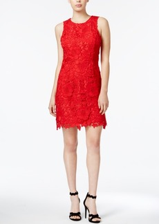 kensie Go Red For Women Lace Sheath Dress