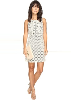 kensie Graphic Geo Lace Dress KS3K7729