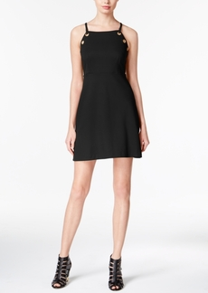 kensie Grommet-Detail A-Line Dress