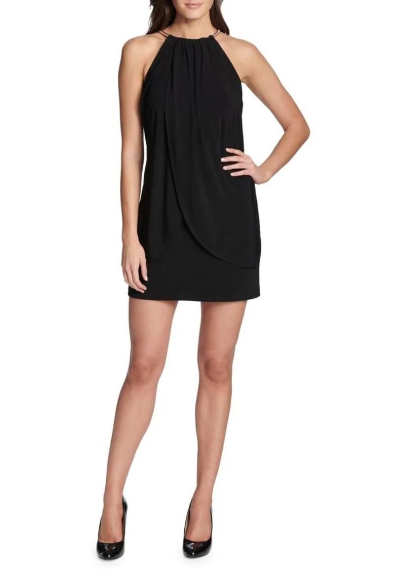 Kensie Halter Layered Mini Dress