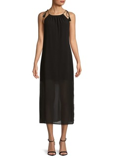 Kensie Halterneck Midi Dress