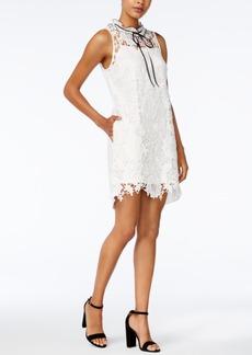 kensie High-Neck Lace Shift Dress