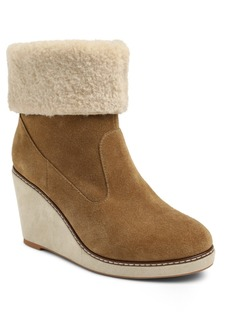 Kensie Holliston Wedge Booties Women's Shoes