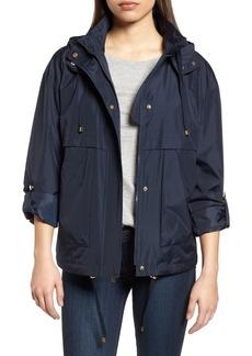 kensie Hooded Water Resistant Jacket