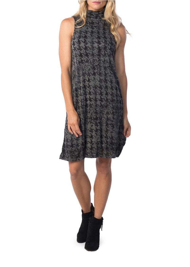 KENSIE Houndstooth Turtleneck Sheath Dress