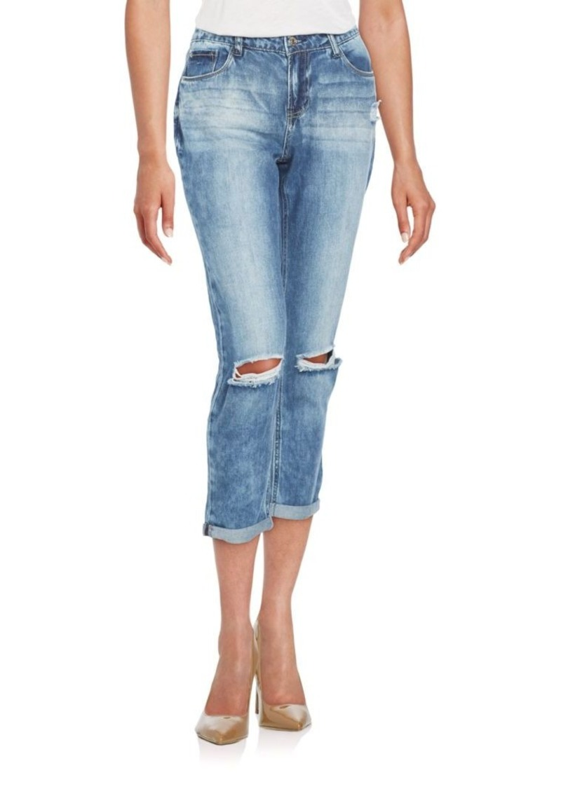 Kensie jeans Distressed Boyfriend Jeans