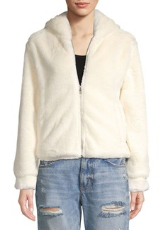 Kensie jeans Faux Fur Hooded Jacket