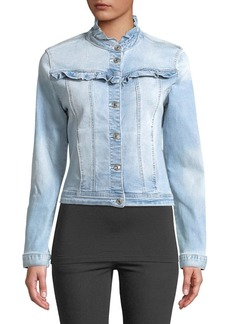Kensie jeans Forever Ruffled Denim Jacket