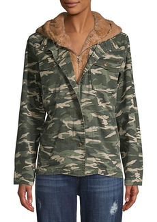 Kensie jeans Layered Faux-Fur Lined Jacket