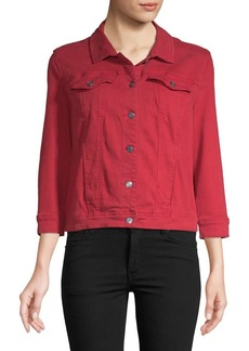 Kensie jeans Quarter-Sleeve Denim Jacket