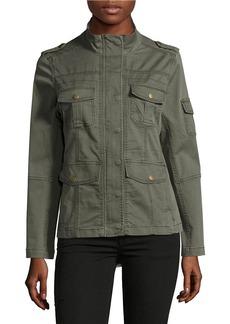KENSIE JEANS Stretch Cotton Utility Jacket