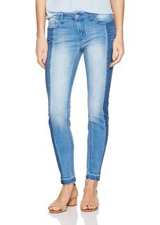 """kensie Jeans Women's 27"""" Skinny Release Hem 2 Tone Side Pannels"""