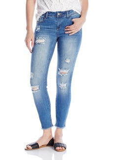 kensie Jeans Women's 28 Ankle Biter With Fray Hem