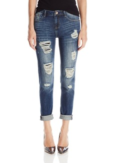 Kensie Jeans Women's Boyfriend with Double Roll Cuff