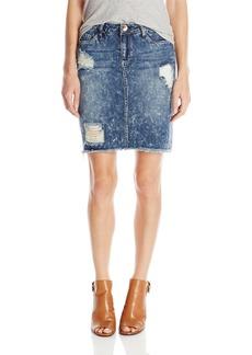 kensie Jeans Women's Destructed Pencil Skirt