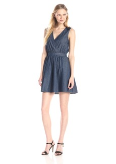 Kensie Jeans Women's Dobby Lace Back Dress