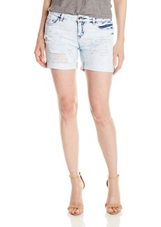 Kensie Jeans Women's Mid-Thigh Double Cuffed 5 Inch Short