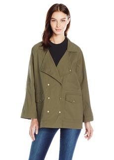 Kensie Jeans Women's Oversized Utility Jacket  M