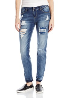 kensie Jeans Women's Straight-Leg with Release-Hem Jean