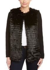 Kensie Kensie Ribbed Knit Sleeve Jacket