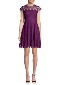 Kensie Lace A-Line Dress