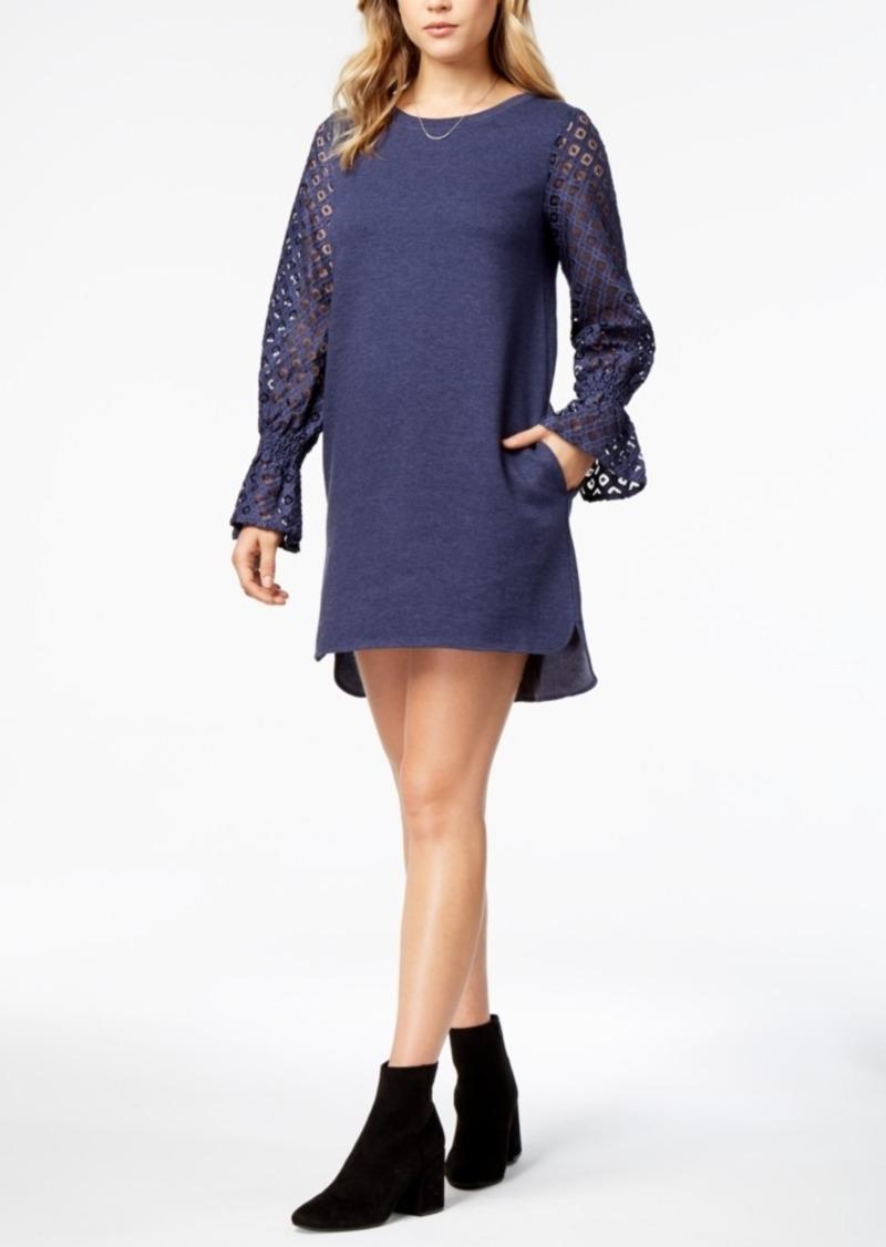 a0c8b82678 Kensie kensie Lace-Contrast Sweater Dress