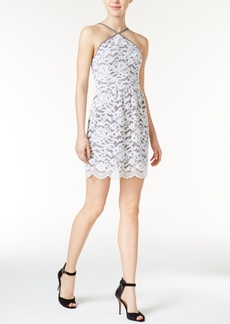 kensie Lace Halter Dress