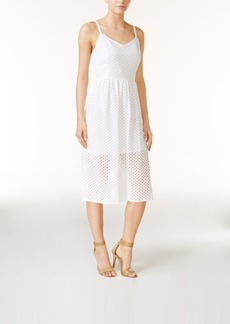 kensie Lace Mesh Midi Dress