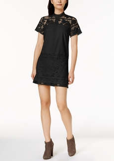 Kensie Lace Mock-Neck Shift Dress
