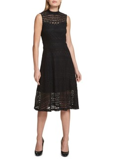 Kensie Lace Sleeveless Midi Dress