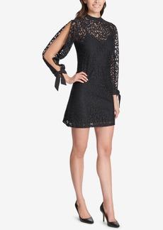 kensie Lace Split-Sleeve Shift Dress