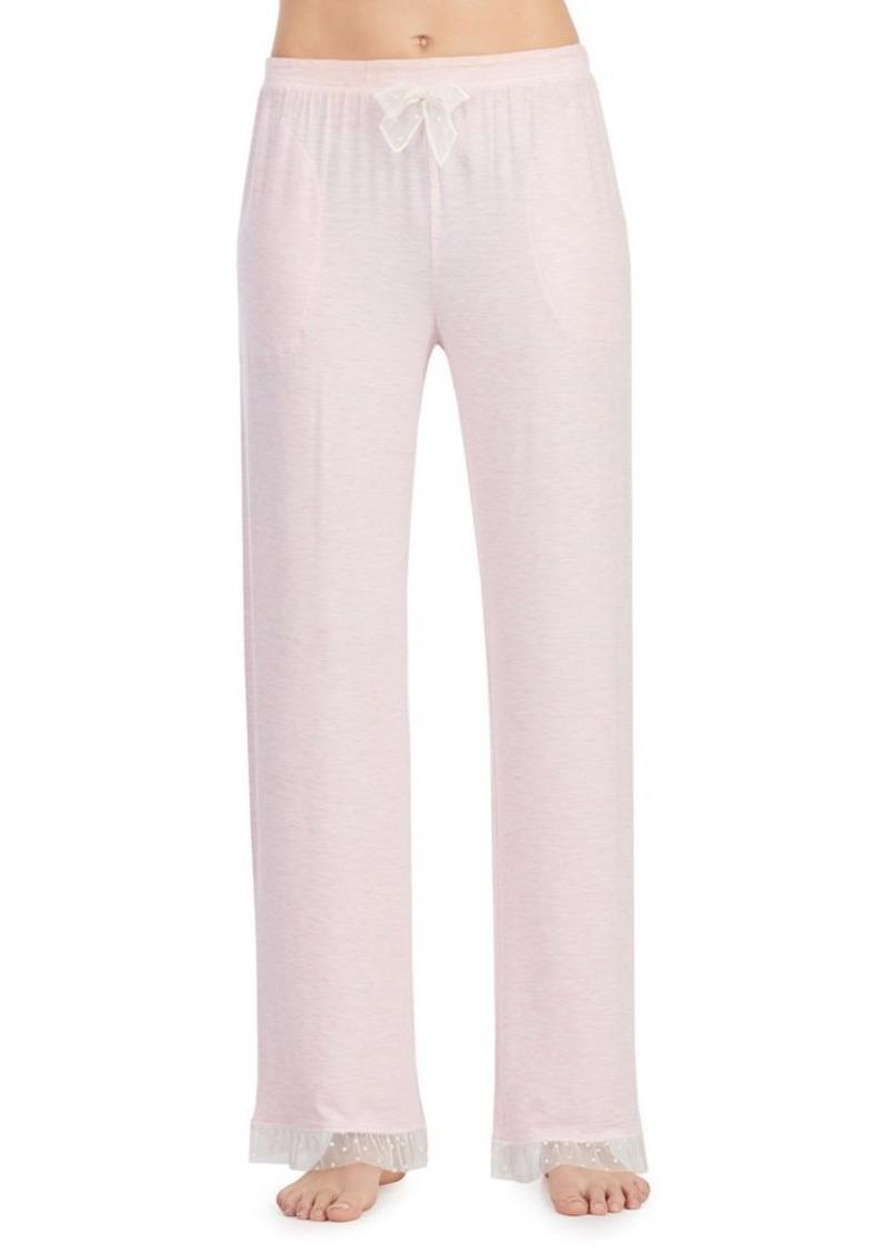 Kensie Lace-Trimmed Pants
