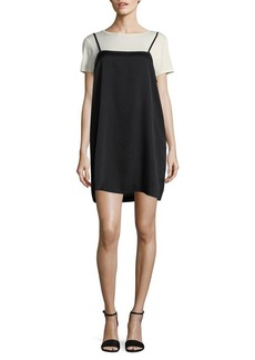 Kensie Layered Slip Shift Dress