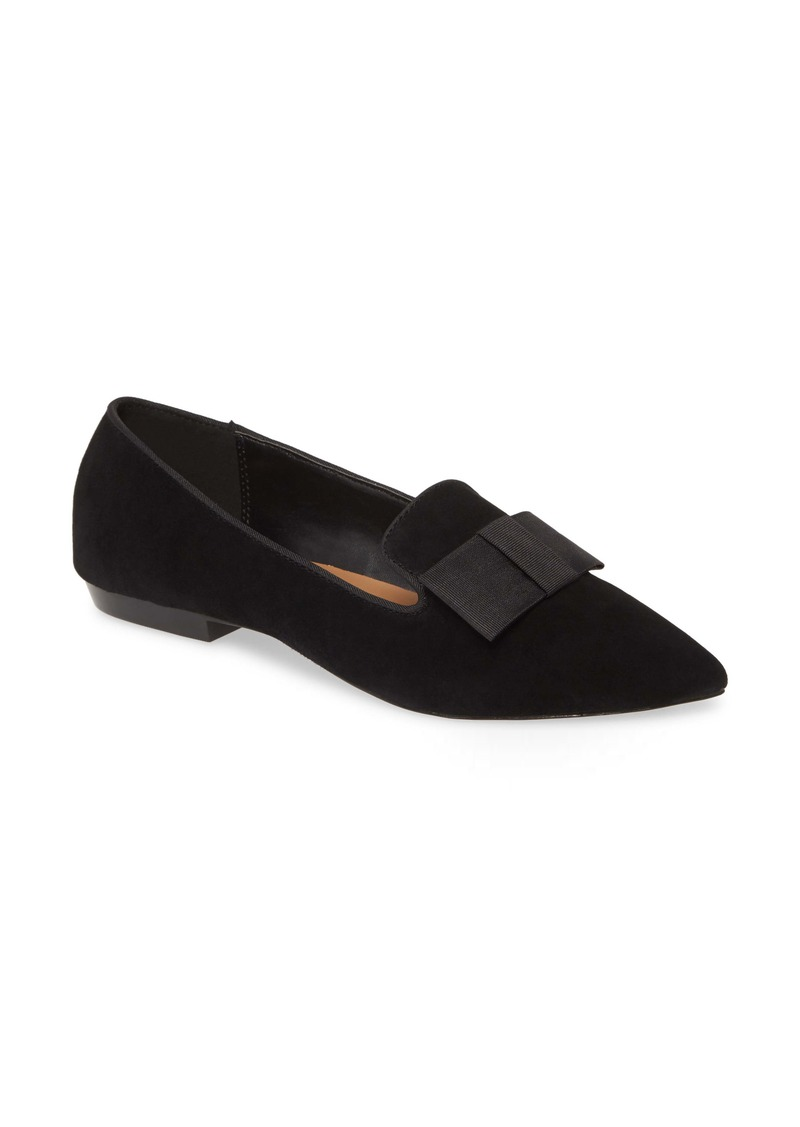 kensie Madeline Bow Pointed Toe Loafer Flat (Women)