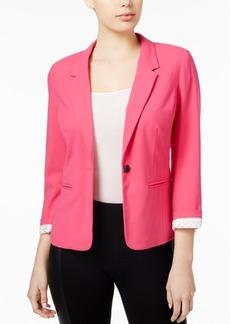 kensie Notched-Collar One-Button Blazer