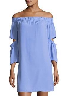 kensie Off-the-Shoulder Crepe Mini Dress