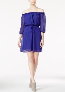 kensie Off-The-Shoulder Drawstring Dress