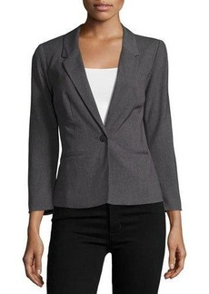 kensie One-Button Long-Sleeve Blazer