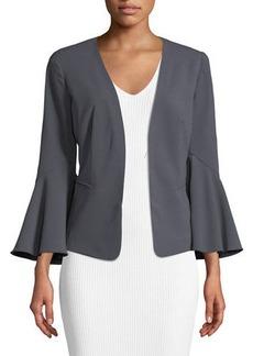 kensie Open-Front Flare-Sleeve Jacket