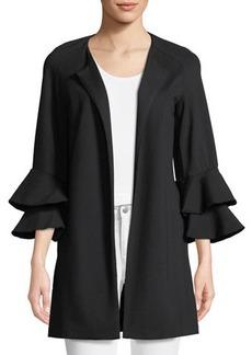 kensie Open-Front Ruffle Sleeve Jacket