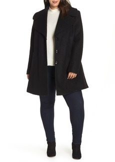 kensie Oversize Collar Coat (Plus Size)