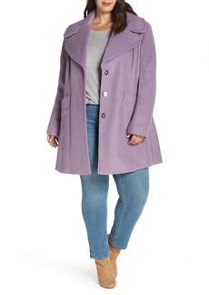 kensie Oversize Collar Coat (Plus Size)