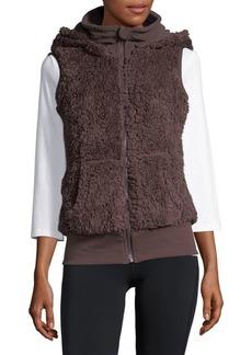 Kensie Sherpa Hooded Vest